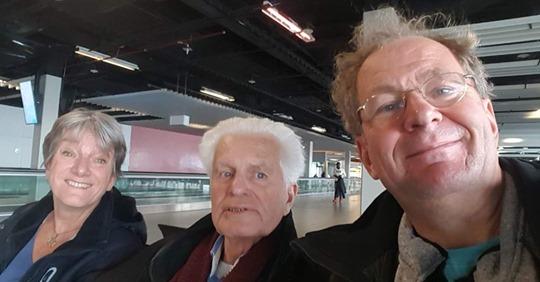 Yvonne Doornbos, Marius Romme en Geert Zomer op weg naar het Wereldcongres in Montreal, Canada